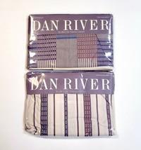 Vintage Dan River Bancroft Twin Sheets Flat & Fitted Multi-Stripe Fits 3... - $37.79