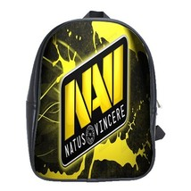 Backpack School Bag Navi Natus Vincere Logo In Elegant Yellow Design Game Animat - $33.00