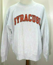VTG 90s Syracuse Orange CHAMPION Mens XL GRAY 80/20 REVERSE WEAVE Sweats... - $44.10