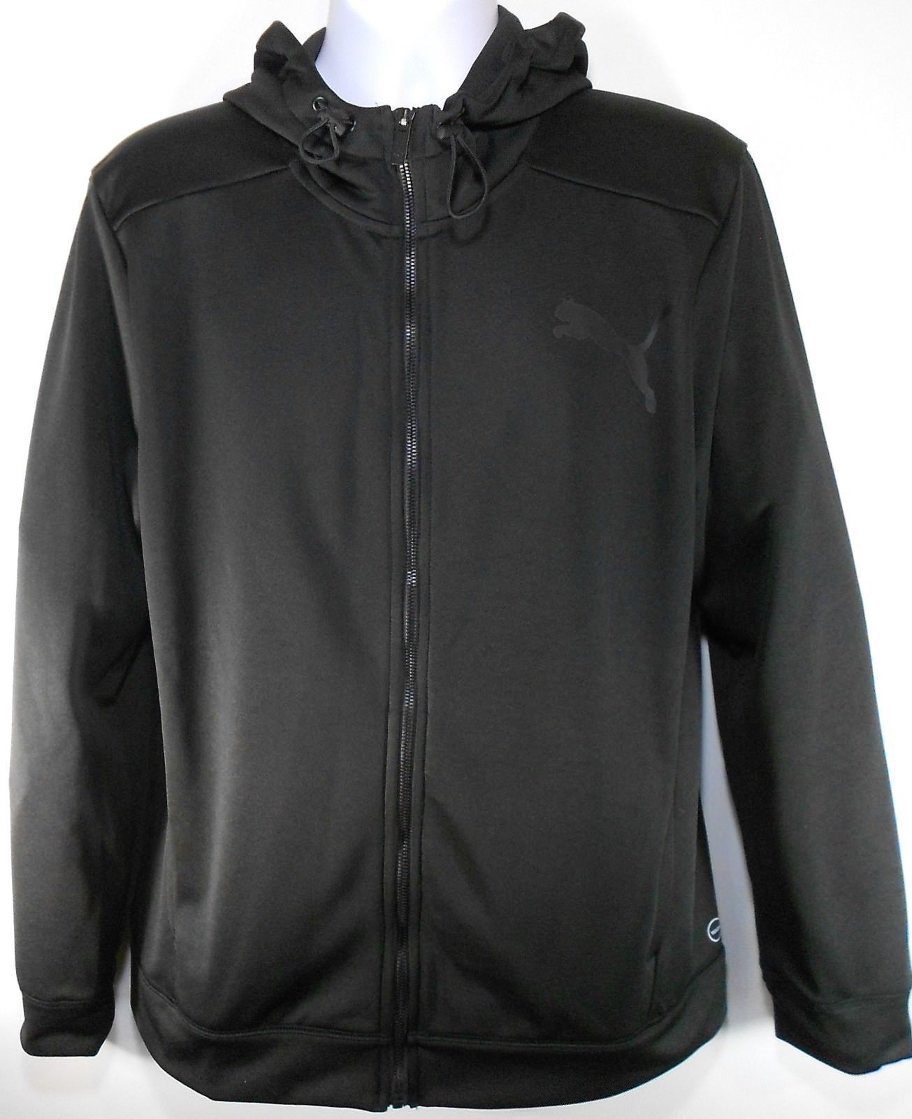 Primary image for PUMA POLY FLEECE ZIP UP MEN'S BLACK FULL-ZIP HOODIE #594227-01