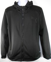 PUMA POLY FLEECE ZIP UP MEN'S BLACK FULL-ZIP HOODIE #594227-01 - $39.99