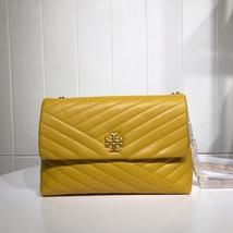TORY BURCH KIRA CHEVRON FLAP SHOULDER BAG Yellow Auhentic - $339.00