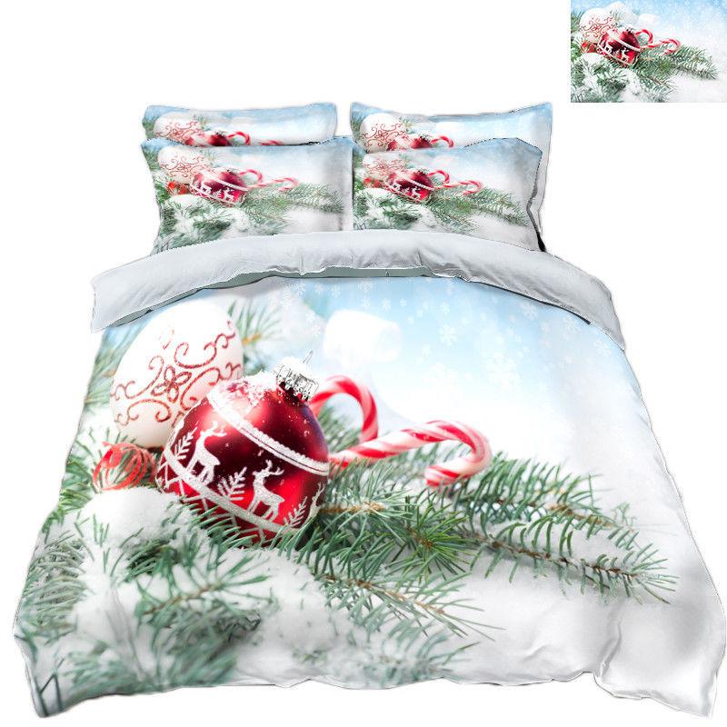 3D Christmas  Xmas 1114 Bed Pillowcases Quilt Duvet Cover Set Single Queen King - $90.04 - $122.20