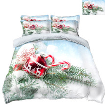 3D Christmas  Xmas 1114 Bed Pillowcases Quilt Duvet Cover Set Single Queen King - $90.04+