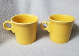 SET 2 FIESTA Ware Sunflower Yellow Coffee Mugs Ring Handle Tom and Jerry... - $16.48