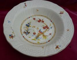 Mikasa Shangri La Rim Soup Bowl S D1001 Basketweave Butterfly Bird - $7.91