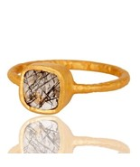 New Jaipur 925 Sterling Silver Natural Rutile Gemstone Party Wear Ring J... - $16.00