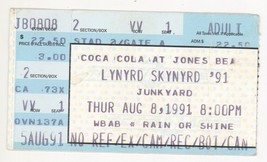 Lynyrd Skynyrd & Junkyard 8/8/91 Wantagh NY Jones Beach Concert Ticket S... - $4.94