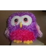 "Ganz Whoorah Hoot Owl 7"" Plush Stuffed Purple, Fushia, Pink. Fluffy (NO ... - $9.89"