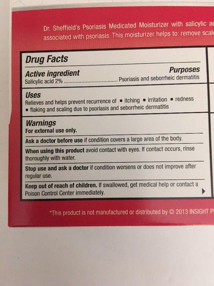 **NEW**-Dr Sheffield's Psoriasis&Seborrheic Dermatitis Medicated Moisturzer 1oz