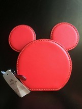 NWT COACH Disney Mickey Mouse Limited Edition Coin Purse red Leather Ears Case - $99.99