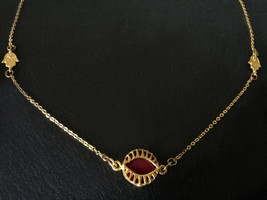 Simple and Delicate Ethnic Gold platted Necklace~Evil Eye and Fatima Han... - $25.60