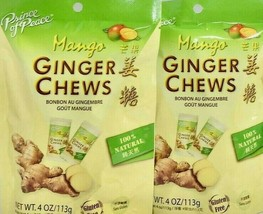Prince of Peace Ginger Chews Candy with Mango( 100% Natural ) 4 oz ( Pack of 2 ) - $7.43