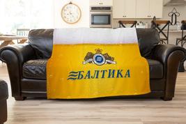 Baltika Beer Logo Fleece Blanket Ultra soft Gift  Cozy Blanket  Comfort ... - $34.99+