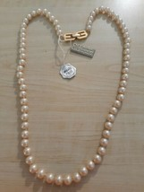 Vintage New Old Stock Bijoux Givenchy Simulated Pearl Strand Necklace Wi... - $100.00