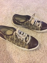 MICHAEL KORS Size 7.5 Women's  AQ14H Brown Canvas/Leather Casual Shoes S... - $56.09