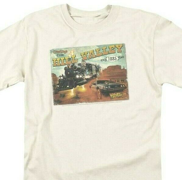 Back To Future 3 T-shirt Hill Valley Postcard 80s movie retro cotton tee UNI379