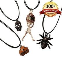 Set of 4 Unique Halloween Gift Charms Skeleton, Skull, Spider, Jack-o-Pu... - $21.77