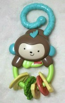 Fisher-Price Rainforest Monkey Teether Rattle Toy Baby Toy Gift - $13.61