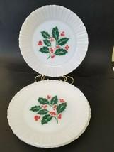 "Vintage Termocrisa Milk Glass Translucent Plates lot of 4 EUC 9"" Dinner ... - $32.99"