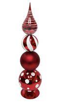 "Christmas Red Finial Decor, 22"" seasonal - $108.89"