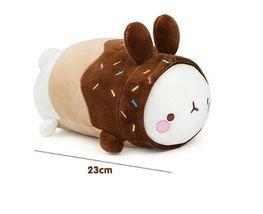 "Molang Donut Rabbit Fluffy Stuffed Animal Plush Toy Soft Mochi Cushion 9"" image 4"