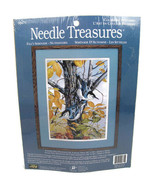 Needle Treasures Fall's Serenade Tree Nuthatches Birds Color Art Stitchery  - $22.56