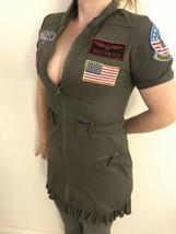 Leg Avenue Top Gun Military Flight Costume Dress Sz M Maverick Goose Oli... - $21.78