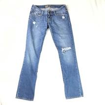 Bullhead Venice Distressed Juniors Denim Skinny Blue Jean Size 1 - $10.98