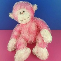 "Russ Berrie Trembles Pink Plush Monkey Fuzzy Shaking Sounds Stuffed Toy 15"" #A26 - $19.79"