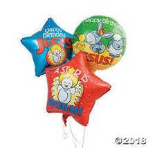 Happy Birthday Jesus Mylar Balloons - $9.61