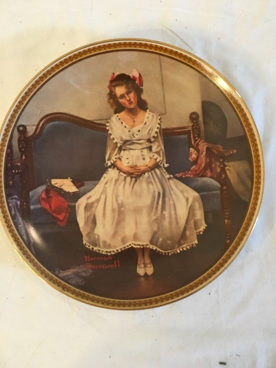 "KNOWLES NORMAN ROCKWELL ""WAITING AT THE DANCE"" COLLECTOR PLATE # 15579F"