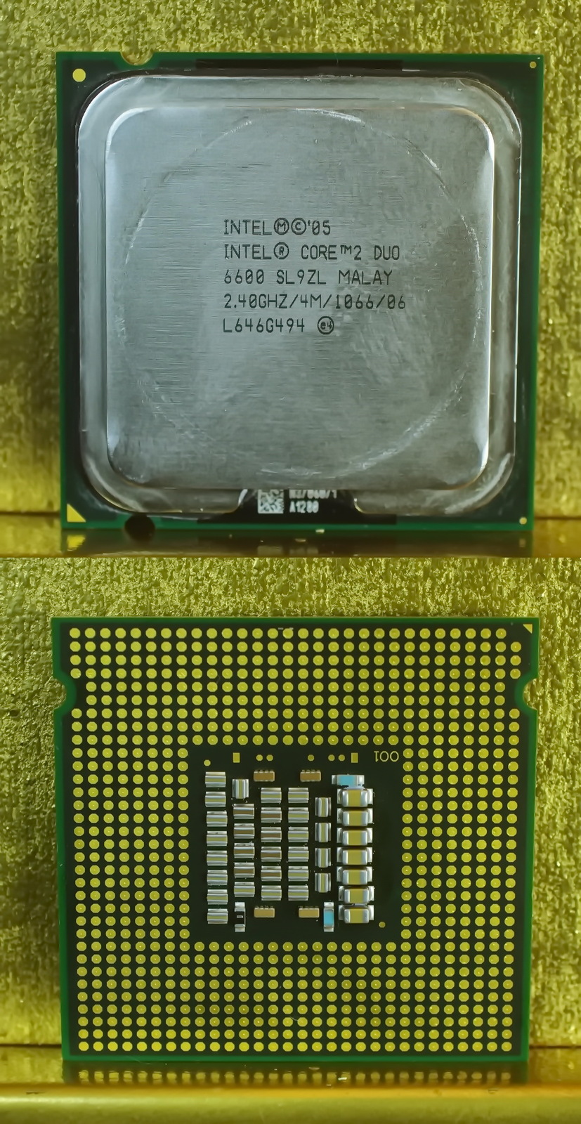 Intel Core 2 Duo E6550 2.33GHz SLA9X LGA775 Dual-Core CPU Working Pull