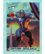 Marvel Masterpieces Holofoil 1 of 10 - Captain America - $1.49