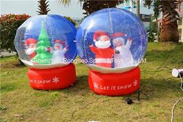 Inflatable Christmas Snowball Toy Tree Snowman Snow Globe Yard Decoratio... - €123,65 EUR
