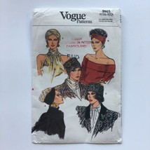 Vintage Vogue 9665 Turbans Fez Hats Headbands Misses All Sizes Uncut Pat... - $10.65
