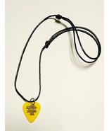 Yellow Guitar Pick  Pendant Necklace   Adjustable Unisex - $8.99