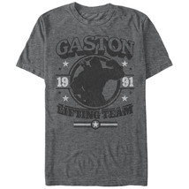 Disney Beauty And The Beast Gaston Gym T-Shirt Gray - $25.98+