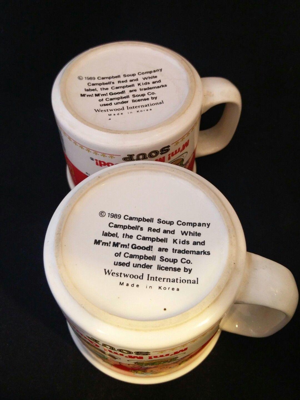 Campbell Mug 1989 Campbell Soup M'm! M'm! Good Soup Mug ~ 2, kids Mug Vintage