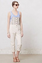 NWOT ANTHROPOLOGIE EMBROIDERED BIB OVERALLS by HOLDING HORSES Style: 278... - $39.99