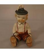 Swiss Alps German Boy Figurine Sitting Handpainted Porcelain Japan Vintage - $14.99