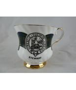 Elizabethan fine bone china England Scotish surname Stewart cup Tartan r... - $9.89