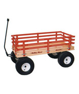 Huge RED Wagon Heavy Duty Beach Garden Yard Made in the USA - $470.37+