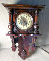 Old Antique Wood Wooden Wall Clock - $191.25