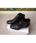 Lifestride Black Ankle Boots Zip-Side Boots Shoes Size 8M  - $28.71