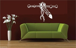 Indian Native American Feather Beads Wall Art Vinyl Decal Decals Sticker... - $31.00