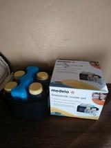 Medela Breast Milk Cooler Transport Set 5 Ounce Bottles with Lids Ice Pa... - $17.75