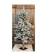 Country HEAVY FLOCKED ALPINE ARTIFICIAL CHRISTMAS TREE Primitive Holiday... - £76.60 GBP