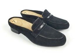 Clarks Women's Keesha Donna Black Suede Mule Shoes New Without Box Size 7 - $56.92