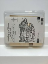 Stampin Up Holy Family Stamp Set 3 Stamps Christmas Religious Retired Set - $38.60